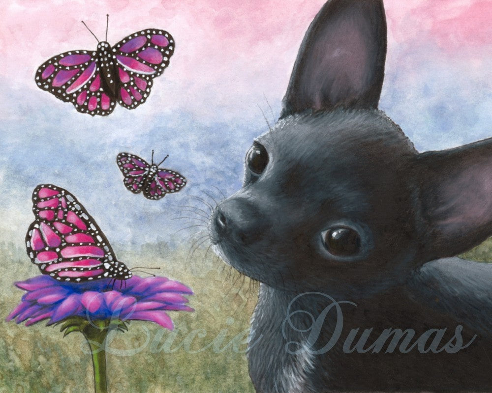 Dog 91 Chihuahua small Art print