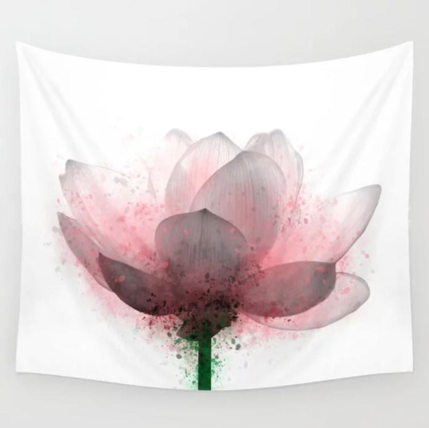 Flower 6 Pink Lotus Wall Tapestry
