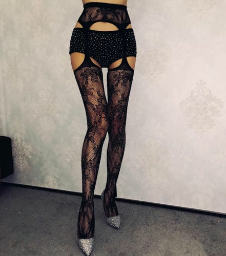 Laced Up Fishnets