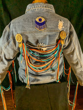 Load image into Gallery viewer, Eye'm Tangled Custom Denim Jacket