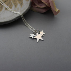 Sterling Silver Triple Star Pendant