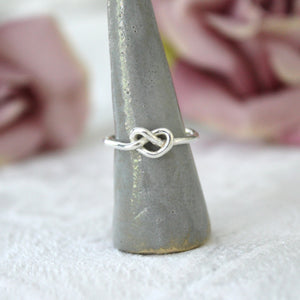Sterling Silver Knot Ring size O