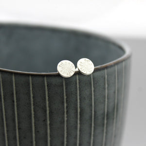 Sterling Silver Make A Wish Stud Earrings