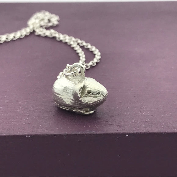 Sterling Silver Guinea Pig Pendant