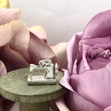 Sterling Silver Sewing Machine Charm