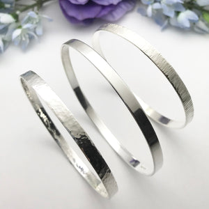 Sterling Silver Wide Bangle
