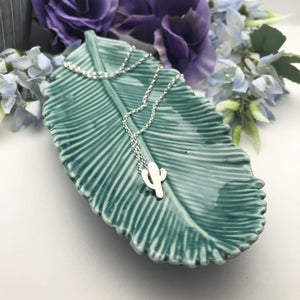 Sterling Silver Cactus Pendant