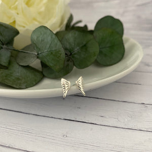 Sterling Silver Wing Stud Earrings