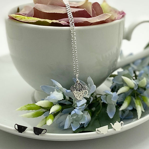 Sterling Silver Time for Tea Jewellery