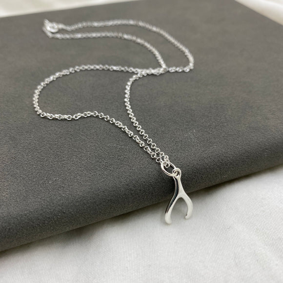 Sterling Silver Wishbone Pendant