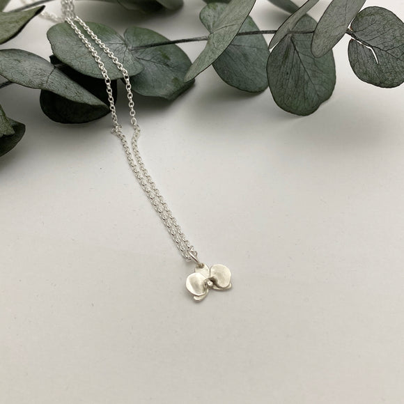 Sterling Silver Mini Orchid Pendant- just one available