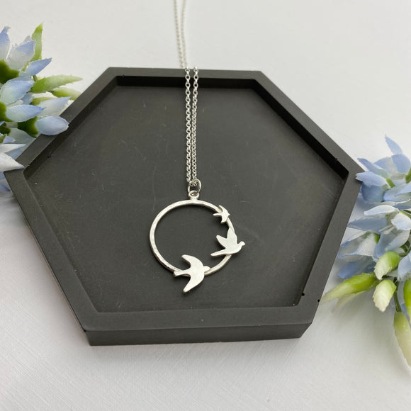 Sterling Silver Freedom Flight Pendant