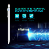 Stylus Pen for Touch Screen, XIRON Rechargeable 1.5mm Fine Tip Point Active Stylus Pen Smart Digital Pencil 2 in 1 Copper Tip & Mesh Tip with Anti-Fouling Glove Perfect for Drawing, Writing (White)