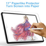 Paperlike iPad Pro 11 Screen Protector, XIRON High Touch Sensitivity Anti Glare Scratch Resistant iPad Pro 11 Matte Screen Protector,Compatible with Apple Pencil or Other Active Stylus Pens