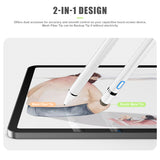 Stylus Pen for Touch Screens, XIRON Rechargeable 1.5mm Fine Point Active Stylus Pen Smart Pencil Digital Compatible iPad and Most Tablet with Glove (White)