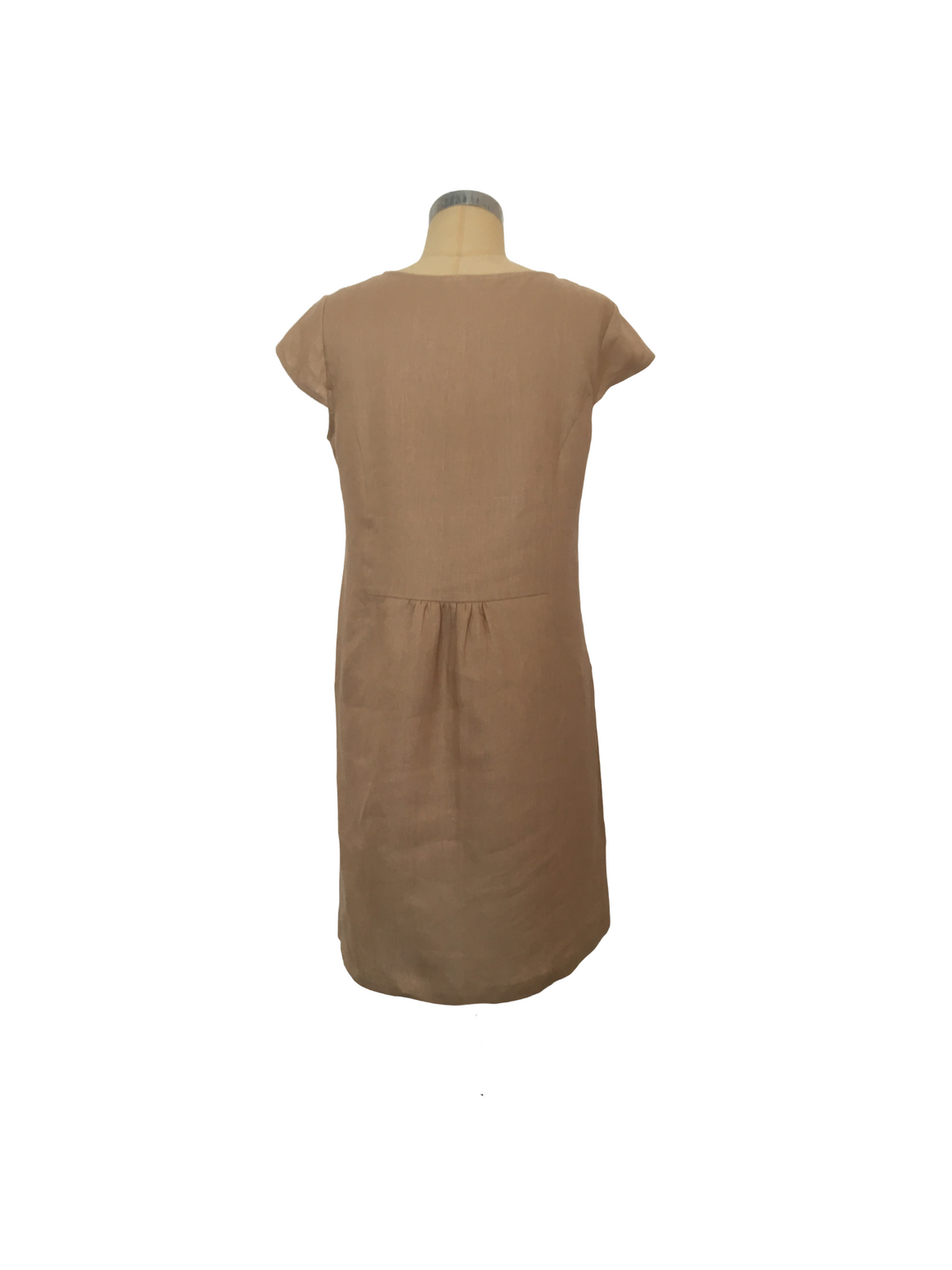 Linen Shift Dress - Clay