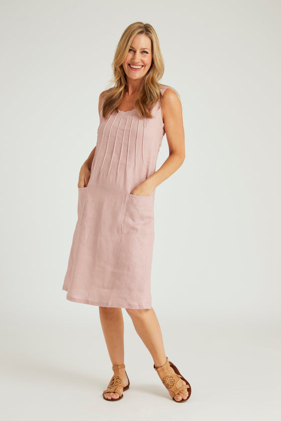 Bali Shift Dress - Dusty Pink