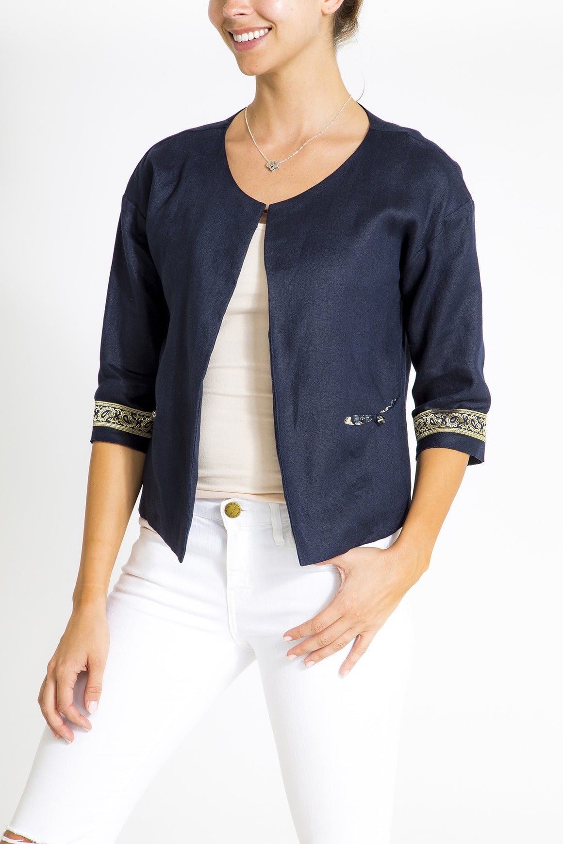 Linen Jacket - Gold Braid