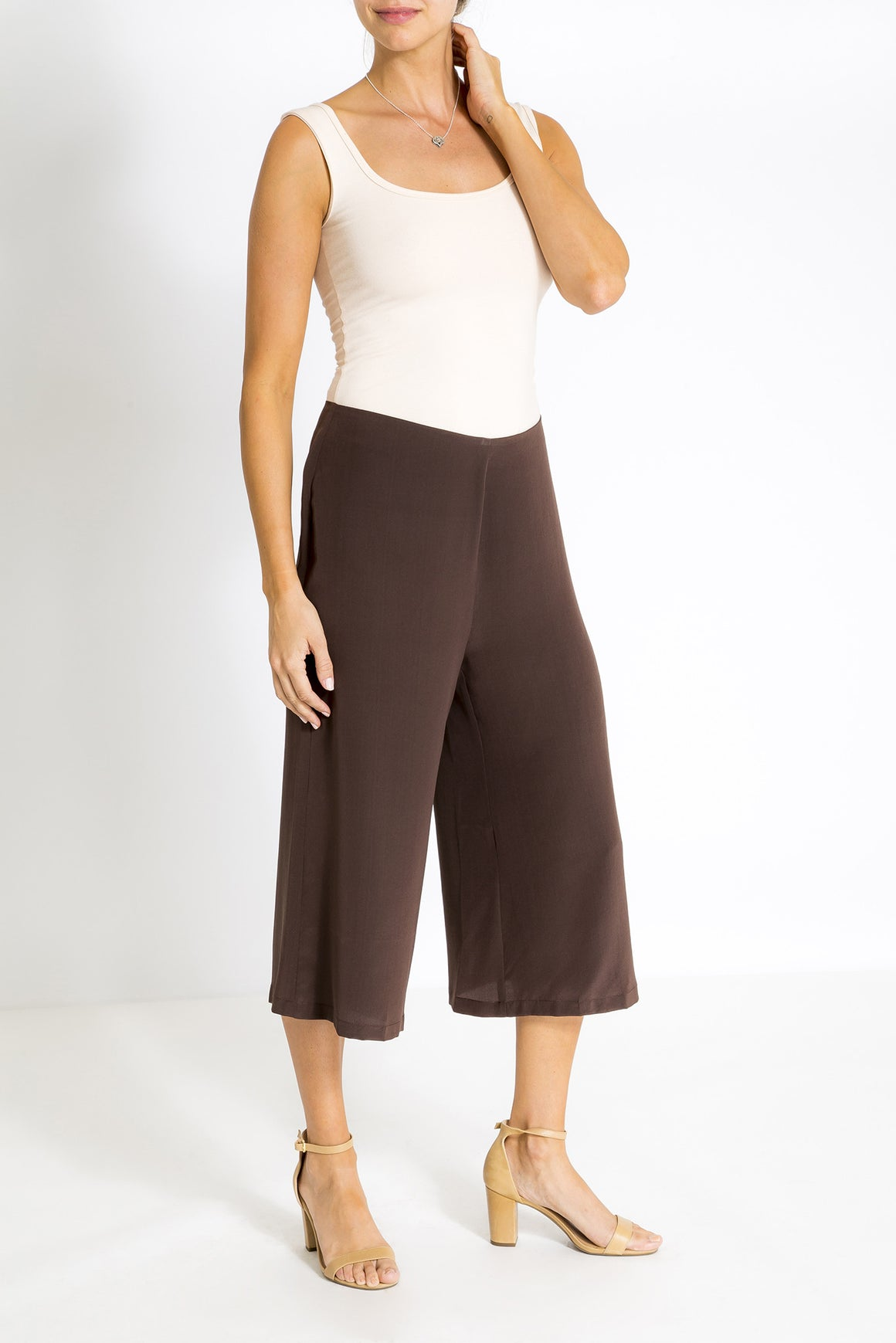 Silk Culottes - Coffee