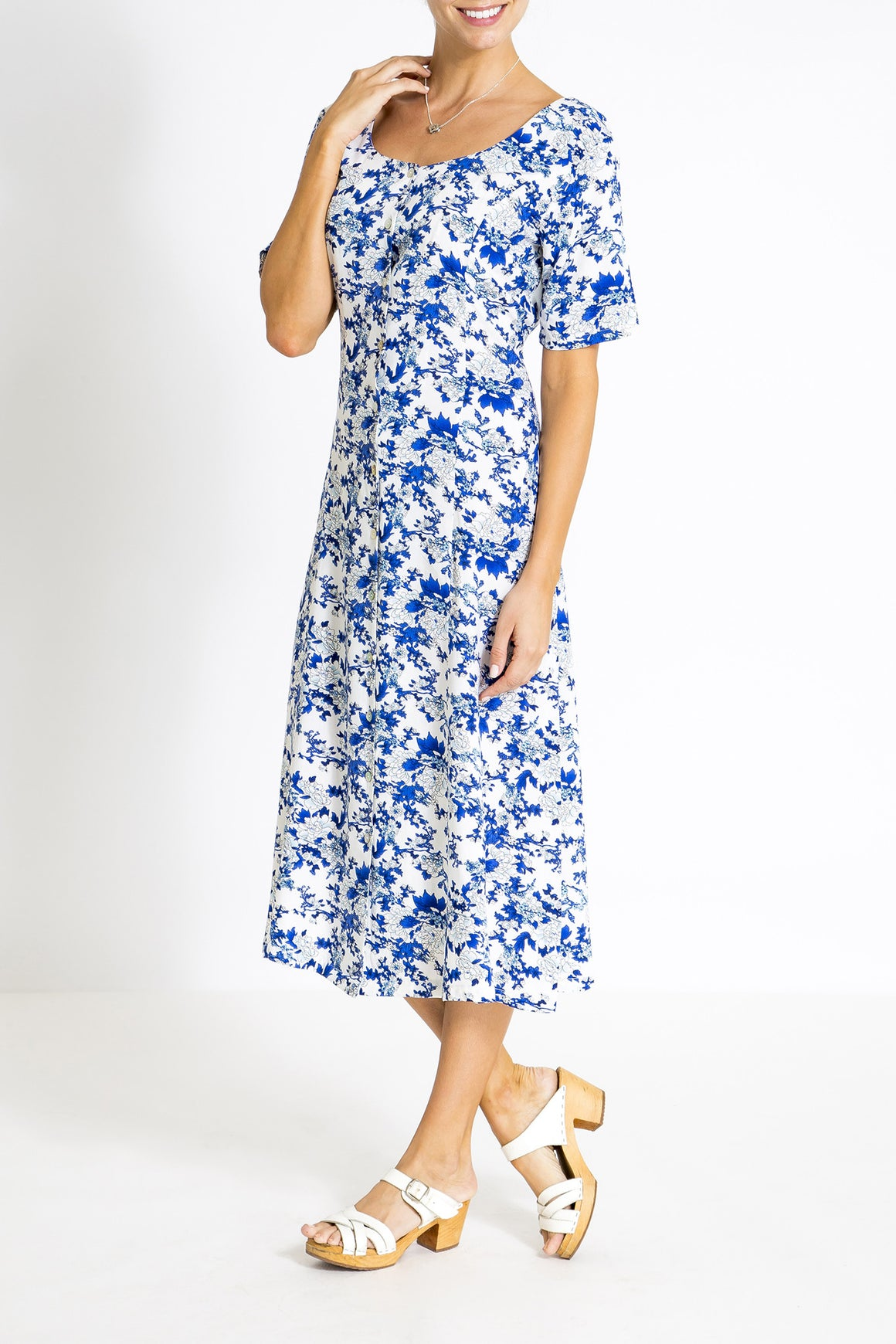 Summer Days Dress - Blue China