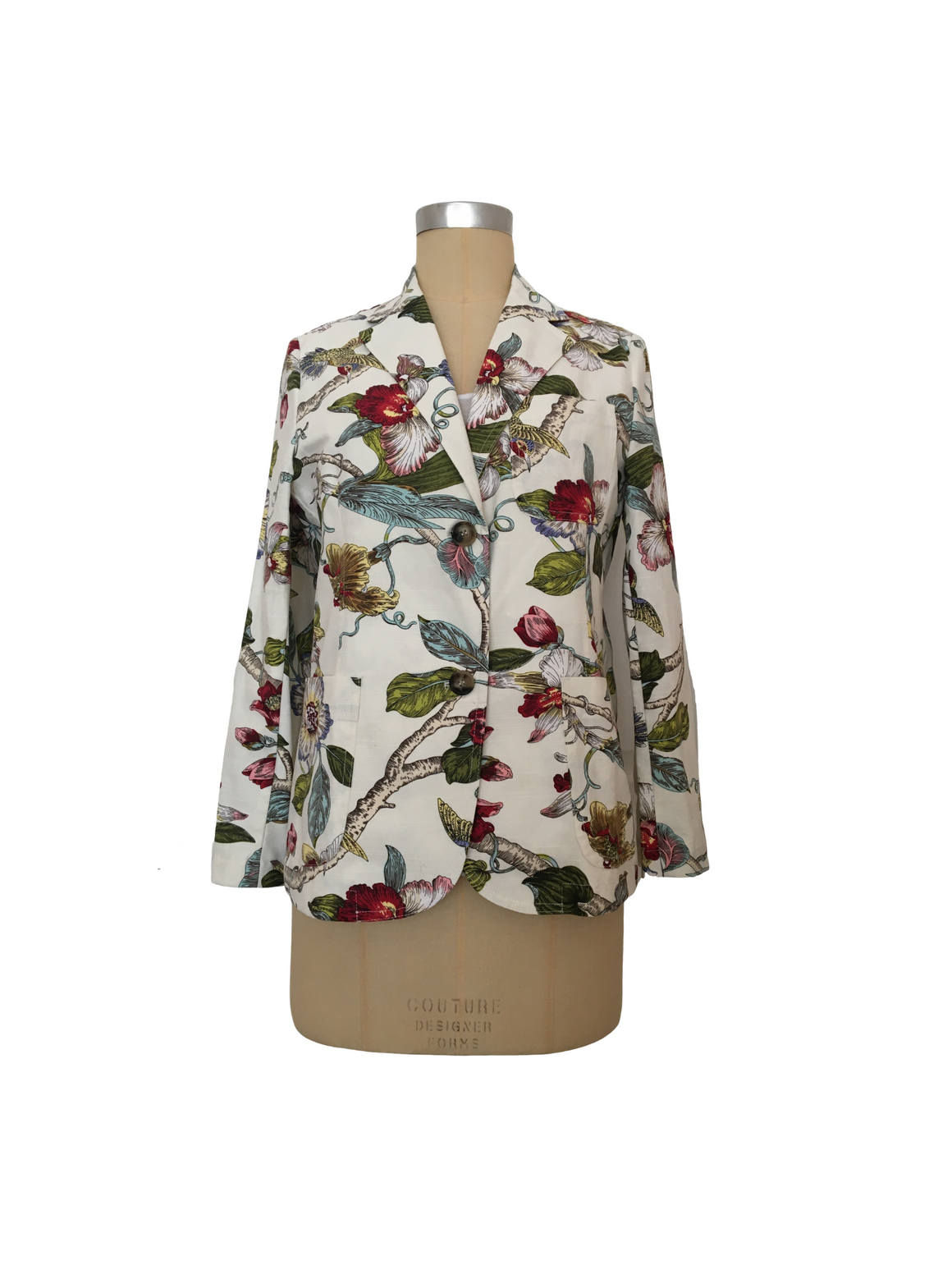 The Canvas Jacket - White Orchid