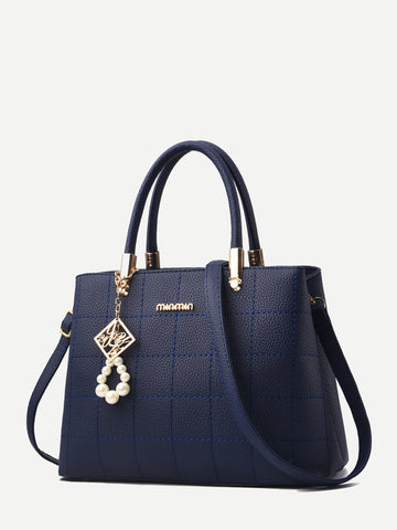 Seam Detail Satchel Bag