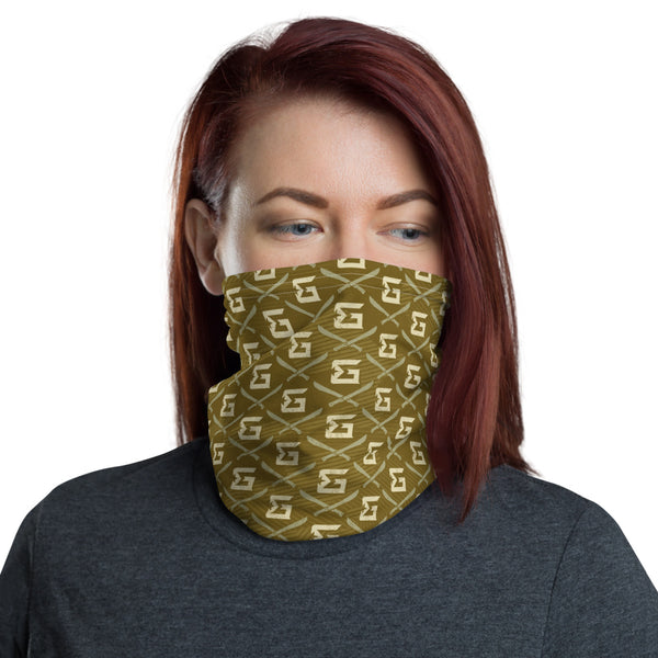 Logo Repeat Neck Gaiter (Olive)