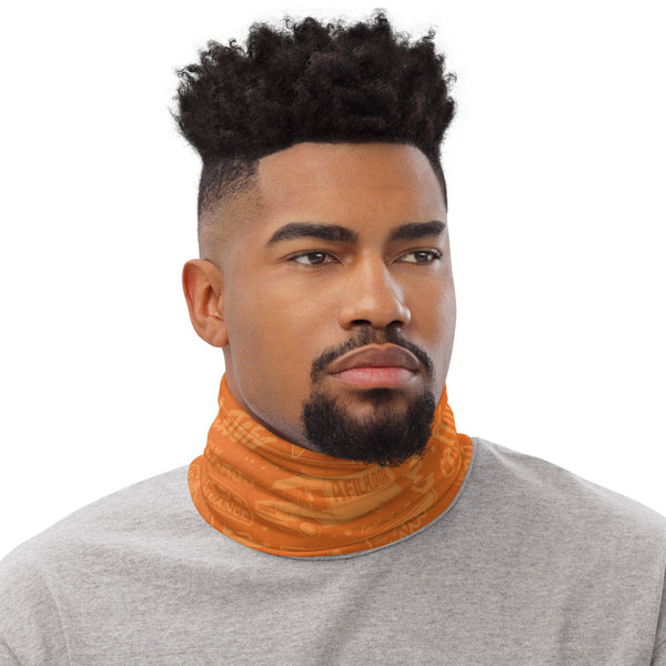 Roll Call Neck Gaiter (Orange)