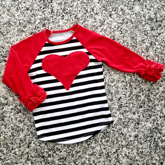 Be Mine Ruffle Raglan Tee