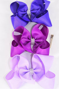 Jumbo Purple Hair Bows