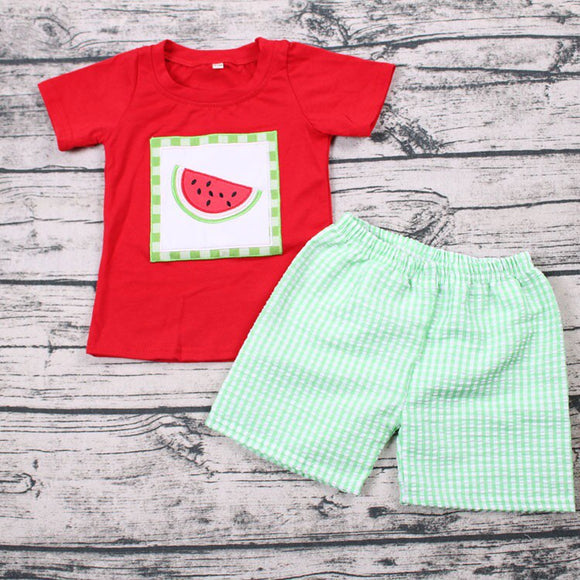 Watermelon Patch Boys Boutique Set