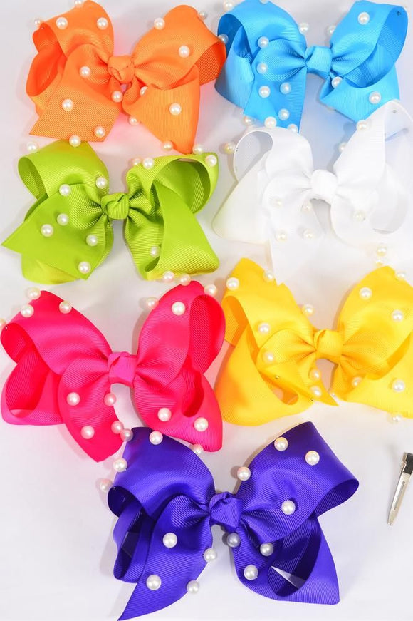 Jumbo Pearl Studded Hair Bow