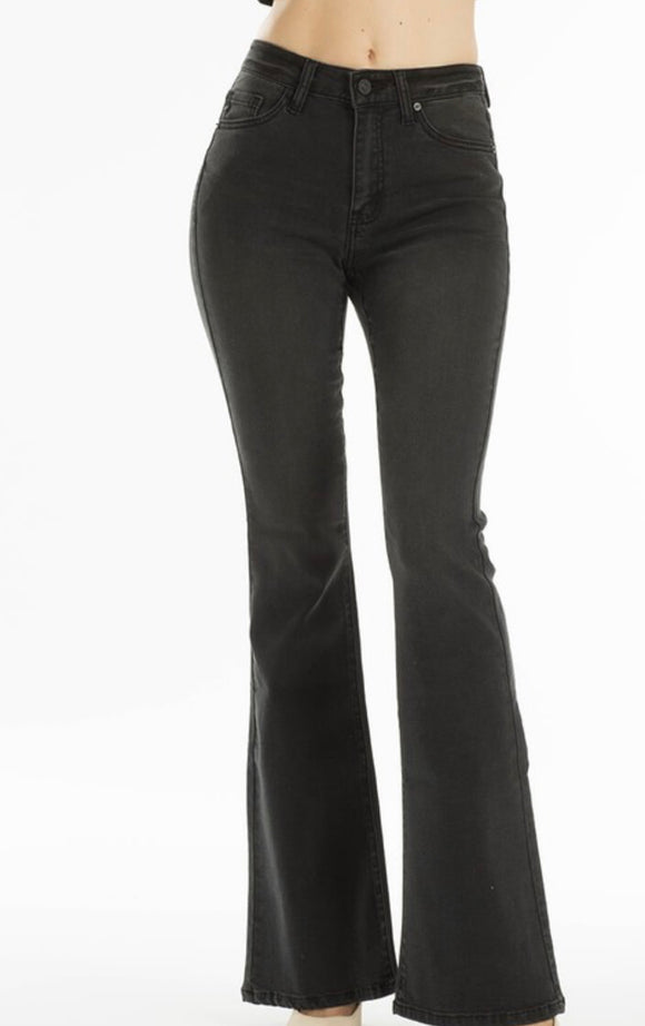 Mid Rise Flare Jean - Black