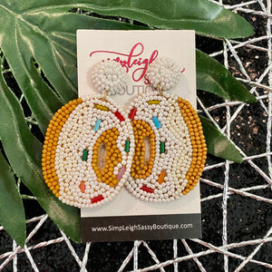 Beaded Donut Earrings