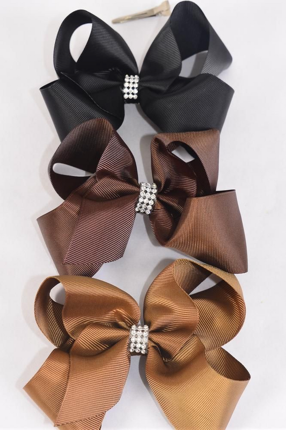 Jumbo Brown-tone Hair Bows