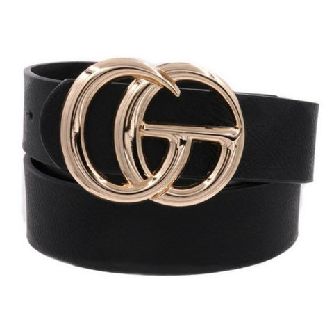 Solid Gucci Dupe Belt