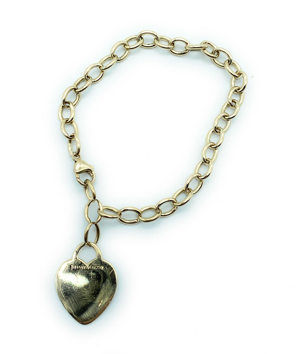 Tiffany & Co. 18K Yellow Gold Heart Tag Bracelet - 7.5""