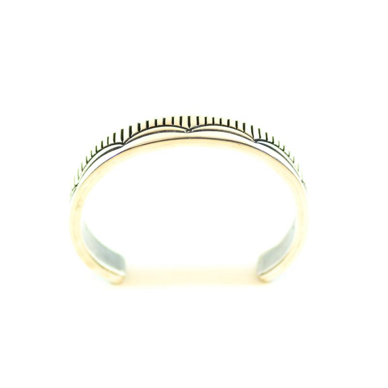 Sterling Silver Native American Style Cuff Bracelet Signed Bill Emerson