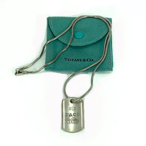 Vintage Tiffany & Co. 1837 Tag Pendant Necklace