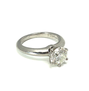 Tiffany & Co. Platinum Round Diamond Solitaire Ring - 1.19ct VS1