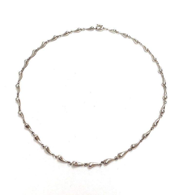 Tiffany & Co. Elsa Peretti Sterling Silver Teardrop Link Choker Necklace