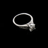14K White Gold Engagement Ring 0.91ctw Princess Cut Diamond and Filigree