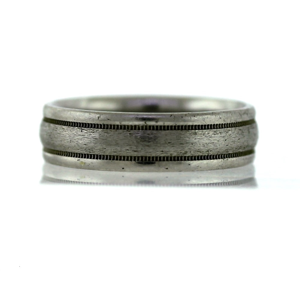 Scott Kay Platinum Milgrain Men's Wedding Band - Sz. 8.75