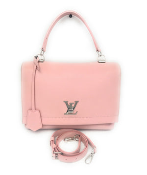 Louis Vuitton Smooth Calfskin Rose Ballerine Lockme II Bag