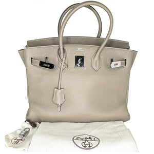 Hermès Birkin Gris Tourterelle Togo Leather 35 Bag