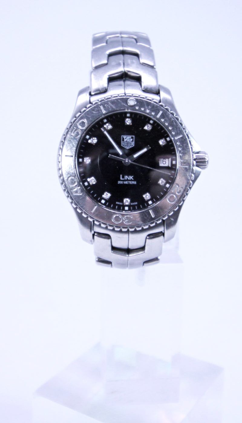 Tag Heuer Men's Link Series WJ1113-0 Stainless Quartz with Diamond Dial 39mm