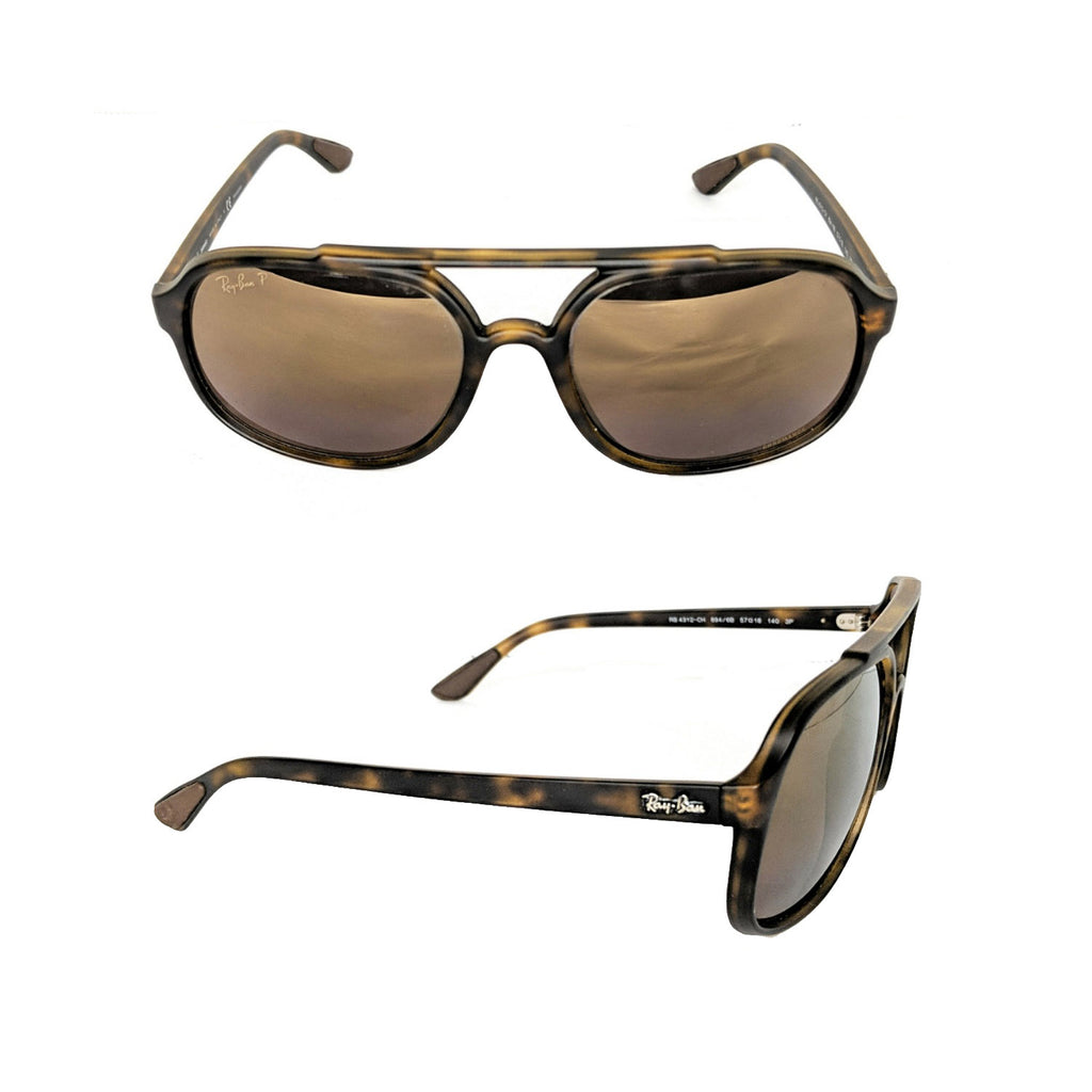 Ray-Ban RB4312CH Polarized Matte Havana Men's Sunglasses