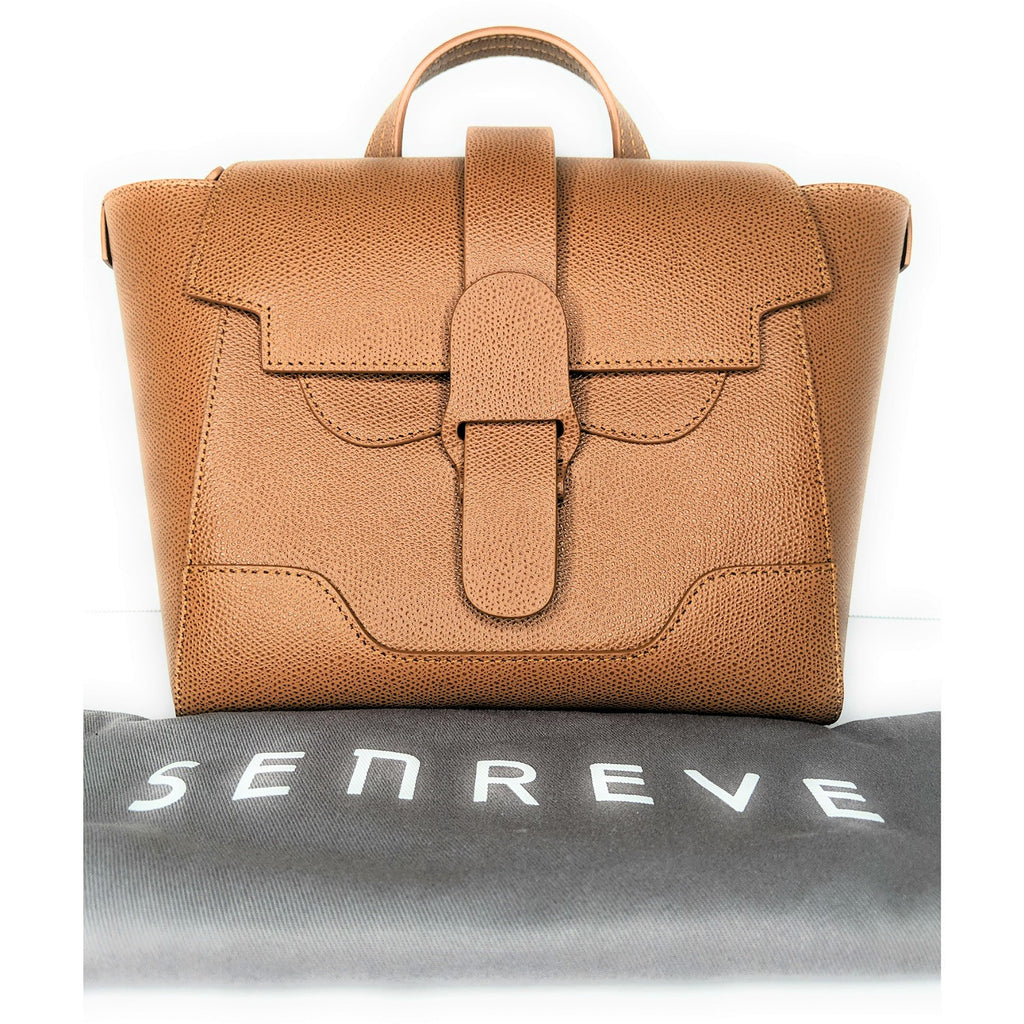 Senreve Mini Maestra Chestnut Crossbody Backpack