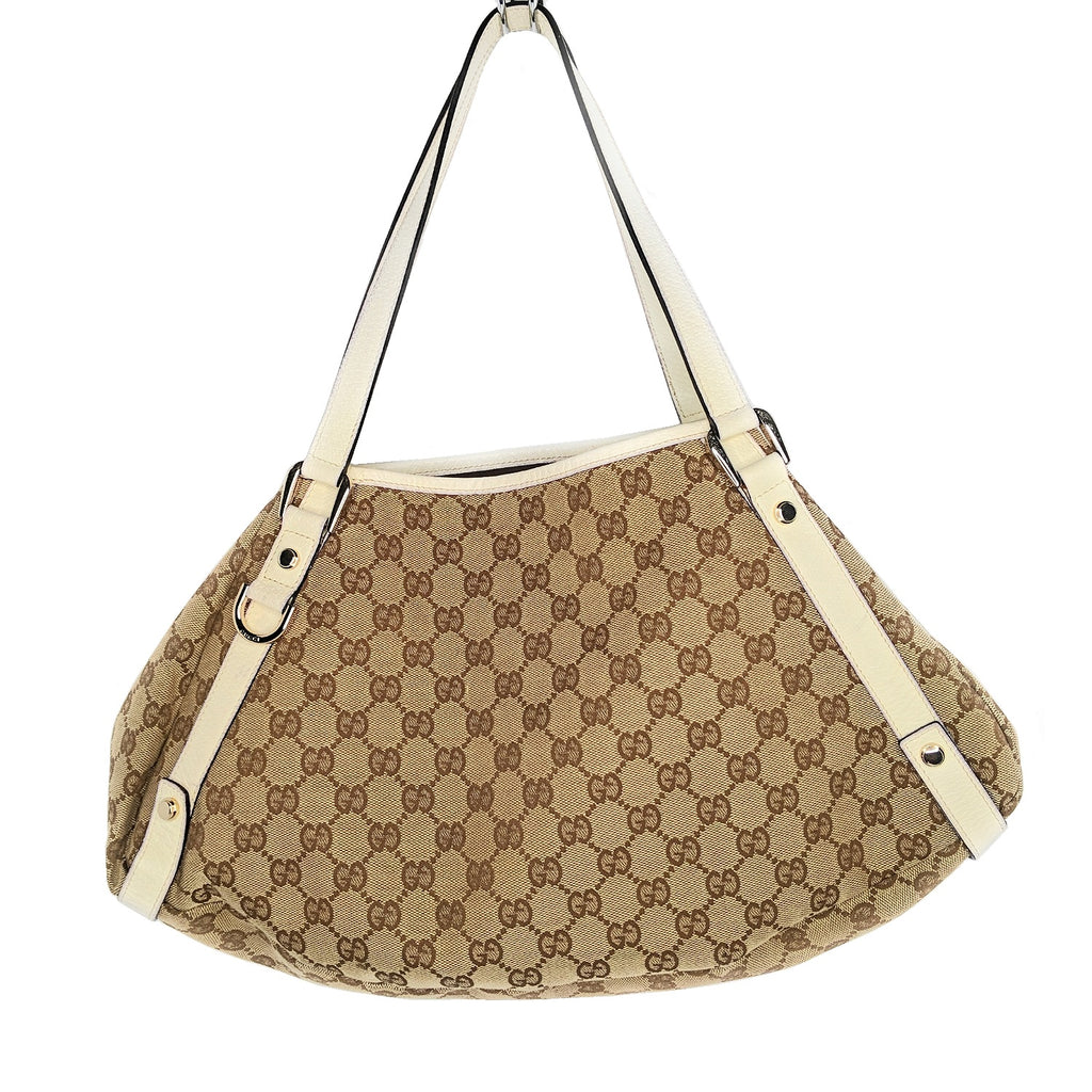 Gucci Medium GG Supreme Canvas Abbey Shoulder Hobo