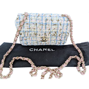 Chanel Multicolor Tweed Classic Mini Flap Bag
